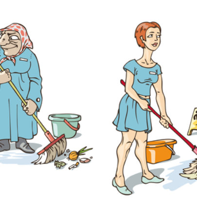 Do you Cleanup for the Cleaning Ladies?